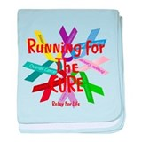 Running for the CURE.png baby blanket