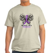 Butterfly Pancreatic Cancer T-Shirt