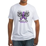 Butterfly Pancreatic Cancer Fitted T-Shirt