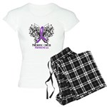 Butterfly Pancreatic Cancer Women's Light Pajamas