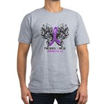 Butterfly Pancreatic Cancer Men's Fitted T-Shirt (