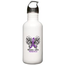 Butterfly Pancreatic Cancer Water Bottle