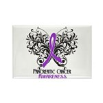 Butterfly Pancreatic Cancer Rectangle Magnet (10 p