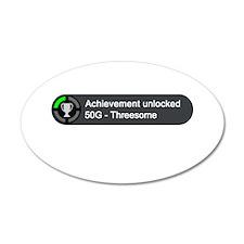 Threesome (Achievement) 22x14 Oval Wall Peel