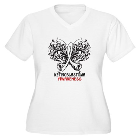 Butterfly Retinoblastoma Women's Plus Size V-Neck