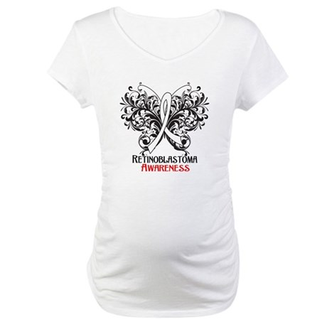 Butterfly Retinoblastoma Maternity T-Shirt
