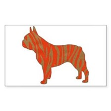 Tiger Frenchie Rectangle Decal