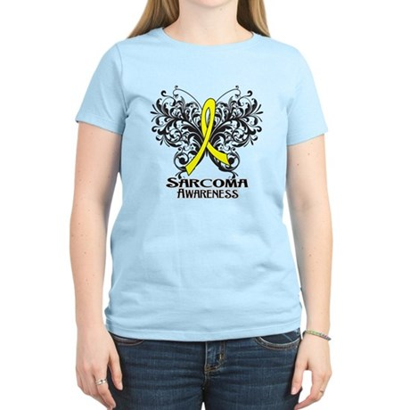 Butterfly Sarcoma Cancer Women's Light T-Shirt