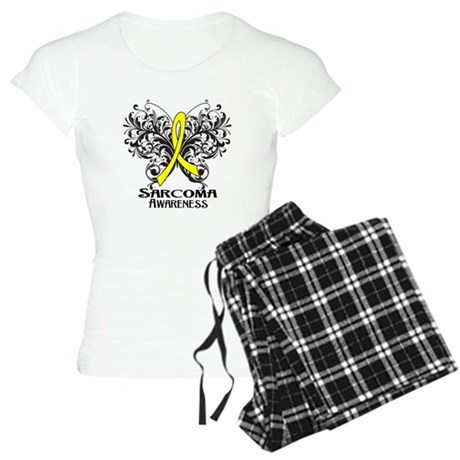 Butterfly Sarcoma Cancer Women's Light Pajamas