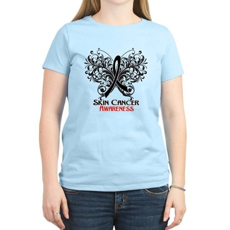 Butterfly Skin Cancer Women's Light T-Shirt