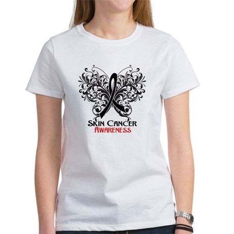 Butterfly Skin Cancer Women's T-Shirt