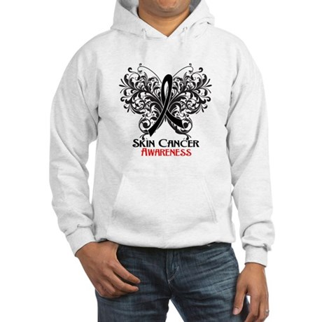 Butterfly Skin Cancer Hooded Sweatshirt