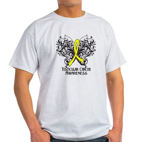 Butterfly Testicular Cancer Light T-Shirt