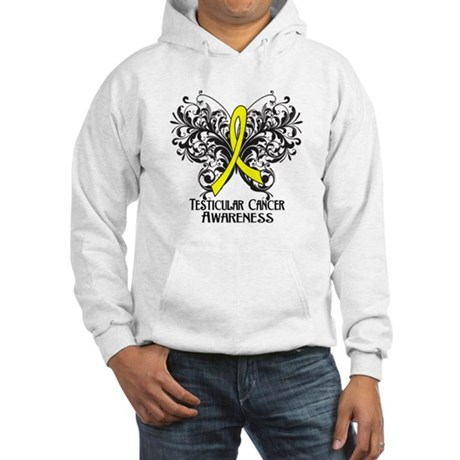 Butterfly Testicular Cancer Hooded Sweatshirt