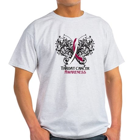 Butterfly Throat Cancer Light T-Shirt