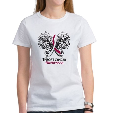 Butterfly Throat Cancer Women's T-Shirt