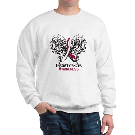 Butterfly Throat Cancer Sweatshirt