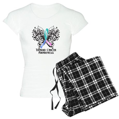 Butterfly Thyroid Cancer Women's Light Pajamas