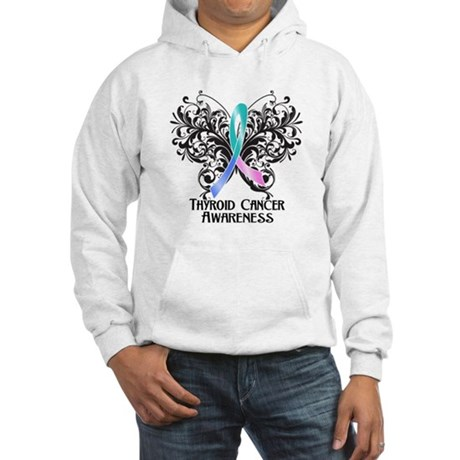 Butterfly Thyroid Cancer Hooded Sweatshirt