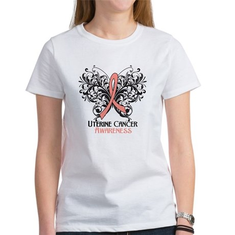 Butterfly Uterine Cancer Women's T-Shirt