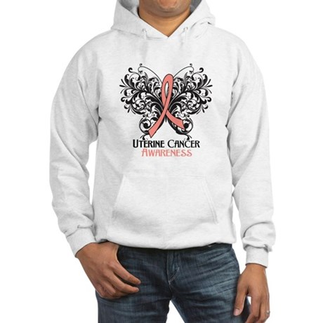 Butterfly Uterine Cancer Hooded Sweatshirt