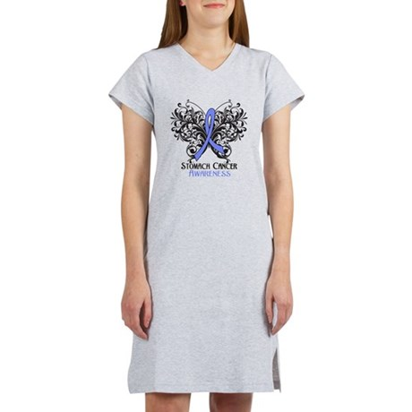 Butterfly Stomach Cancer Women's Nightshirt