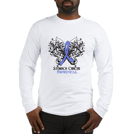 Butterfly Stomach Cancer Long Sleeve T-Shirt