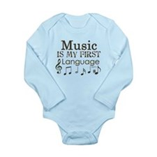 Music is my first Language Onesie Romper Suit