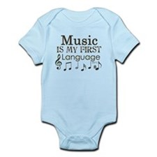Music is my first Language Infant Bodysuit