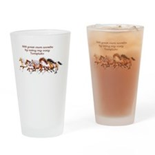 Wild Horses Herd Drinking Glass