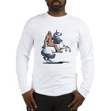 Bigfoot Riding a Unicorn Long Sleeve T-Shirt