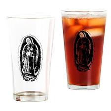 La Santa Muerte Drinking Glass