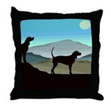 Blue Hills Coonhounds sq.jpg Throw Pillow