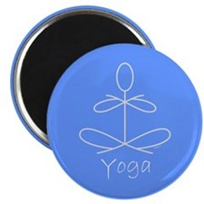 "Yoga Baby Blue Clock.jpg 2.25"" Magnet (100 pack)"