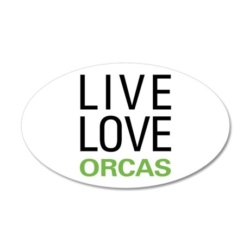 Live Love Orcas 22x14 Oval Wall Peel