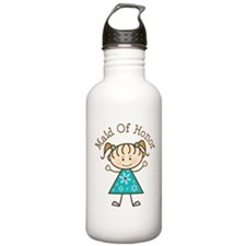 Maid of Honor Stick Figure Water Bottle