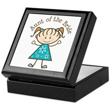 Aunt of the Bride Stick Figure Keepsake Box