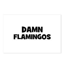 Damn Flamingos Postcards (Package of 8)