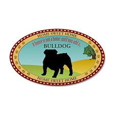 English Bulldog 22x14 Oval Wall Peel