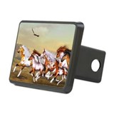 Wild Horses Herd Rectangular Hitch Cover