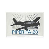 Aircraft Piper PA-28 Rectangle Magnet