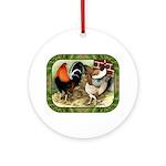 Barnyard Game Fowl Ornament (Round)