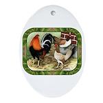 Barnyard Game Fowl Ornament (Oval)