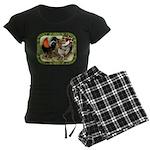 Barnyard Game Fowl Women's Dark Pajamas