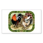 Barnyard Game Fowl Sticker (Rectangle 50 pk)