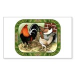 Barnyard Game Fowl Sticker (Rectangle 10 pk)