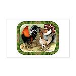 Barnyard Game Fowl Rectangle Car Magnet