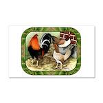 Barnyard Game Fowl Car Magnet 20 x 12