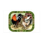 Barnyard Game Fowl 38.5 x 24.5 Wall Peel