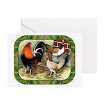Barnyard Game Fowl Greeting Cards (Pk of 10)